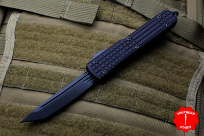 Microtech Ultratech Delta Tanto Edge OTF Frag Black with Black DLC HW Nickel Boron Internals 123-1UT-DS