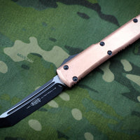 Microtech Ultratech Tanto Edge Copper Top and Black OTF Knife Black Blade 123-1 CP