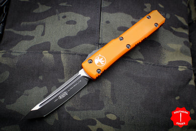 Microtech Ultratech Orange Tanto Edge OTF Knife Black Blade 123-1 OR