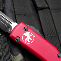 Microtech Ultratech Red Tanto Edge TE OTF Knife Black Blade 123-1 RD
