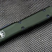 Microtech Ultratech OD Green T/E OTF Knife Black Part Serrated Blade 123-2 OD