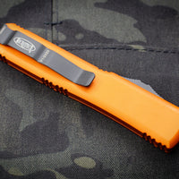 Microtech Ultratech Orange Tanto Edge OTF Knife Black Part Serrated Blade 123-2 OR