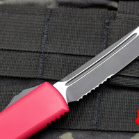 Microtech Ultratech Red Tanto Edge OTF Knife Black Part Serrated Blade 123-2 RD