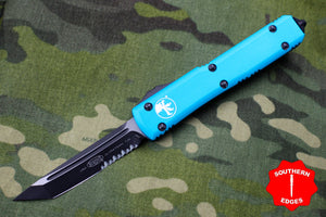 Microtech Ultratech Turquoise Tanto Edge OTF Knife Black Part Serrated Blade 123-2 TQ