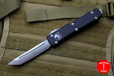 Microtech Ultratech Black Tanto Edge OTF Knife Satin Blade 123-4