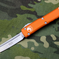 Microtech Ultratech Orange Tanto Edge OTF Knife Satin Blade 123-4 OR