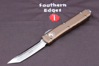 Microtech Ultratech Tan T/E OTF Knife Satin Blade 123-4TA