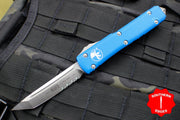 Microtech Ultratech Blue Tanto Edge OTF Knife Part Serrated Satin Blade 123-5 BL