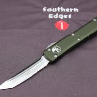 Microtech Ultratech OD Green T/E OTF Knife Part Serrated Satin Blade 123-5 OD