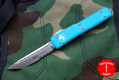 Microtech Ultratech Turquoise Tanto Edge OTF Knife Part Serrated Satin Blade 123-5 TQ