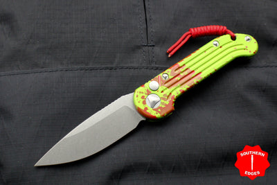 Microtech LUDT Zombietech Green Single Edge OTS Knife Stonewash Blade 135-10 Z