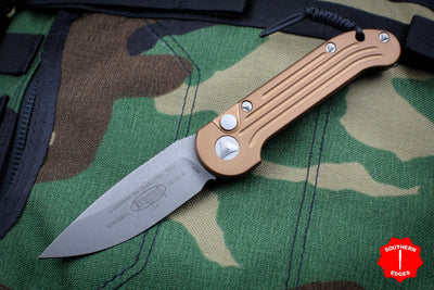 Microtech LUDT Tan Knife with Apocalyptic Finished Blade 135-10 APTA