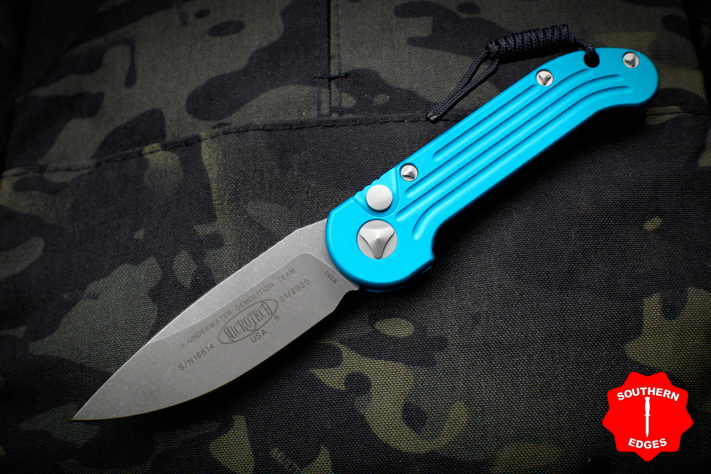 Microtech LUDT OTS Turquoise Knife Apocalyptic Blade 135-10 APTQ