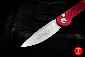 Microtech LUDT Red Knife Stonewash Blade 135-10 RD