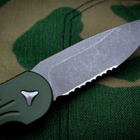 Microtech LUDT OD Green Knife Apocalyptic Finished Part Serrated Blade 135-11 APOD