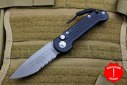 Microtech LUDT Black Knife Apocalyptic Part Serrated Blade 135-11 AP