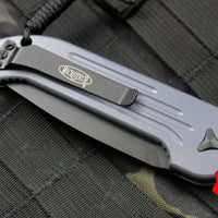 Microtech LUDT Gray Handle Black Single Edge Blade 135-1 GY