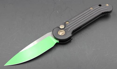 Microtech LUDT Green Jedi Master Knife White Blade 135-1 JM