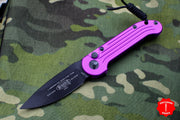 Microtech LUDT OTS Violet Handle with Black Single Edge Blade 135-1 VI