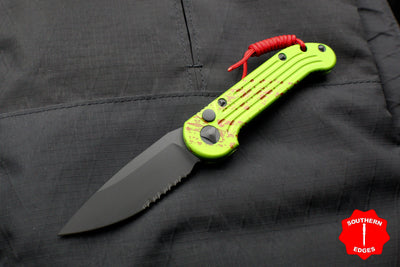 Microtech LUDT Zombietech OTS Knife with a Black Part Serrated Blade 135-2 Z