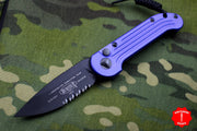 Microtech LUDT Purple Knife Black Part Serrated Blade 135-2 PU
