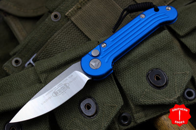 Microtech LUDT Blue Knife Satin Blade 135-4BL