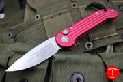 Microtech LUDT Red Knife Standard Satin Blade 135-4RD