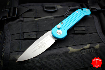 Microtech LUDT OTS Auto Turquoise Handle with Satin Blade 135-4 TQ