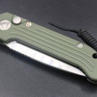 Microtech LUDT OD Green Knife Satin Part Serrated Blade 135-5 OD