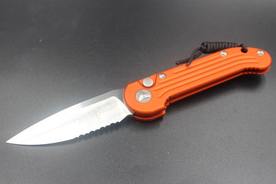 Microtech LUDT Orange Knife Satin Part Serrated Blade 135-5 OR