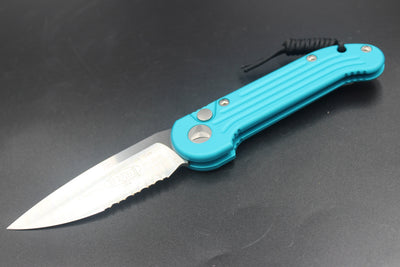 Microtech LUDT Turquoise Knife Satin Part Serrated Blade 135-5 TQ