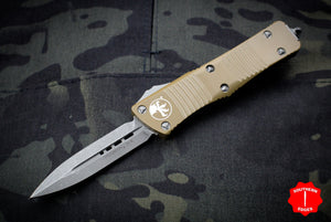 Microtech Troodon Double Edge OTF knife Tan with Apocalyptic Blade 138-10 APTA
