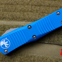 Microtech Blue Troodon Double Edge OTF knife with Stonewash Blade 138-10 BL