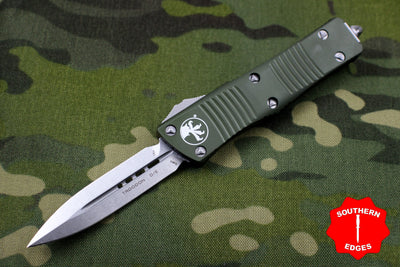Microtech OD Green Troodon Double Edge OTF knife Stonewash Blade 138-10 OD