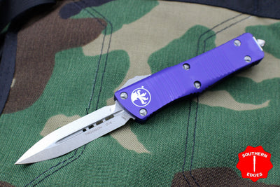 Microtech Purple Troodon Double Edge OTF knife with Stonewash Blade 138-10 PU