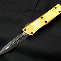 Microtech Troodon Double Edge OTF knife Black with Copper Top with Black Blade 138-1 CPS