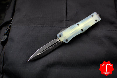 Microtech Troodon Double Edge OTF knife Jade Green G-10 Top with Black Blade 138-1 GTJGS