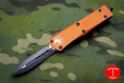 Microtech Troodon Orange Double Edge OTF knife with Black Blade 138-1 OR
