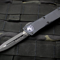 Microtech Troodon Tactical Double Edge OTF knife Black with Black Blade 138-1 T