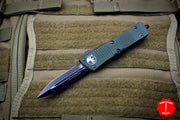 Microtech Troodon Double Edge OTF knife OD Green with DLC Black Blade Black HW 138-1 DLCTOD
