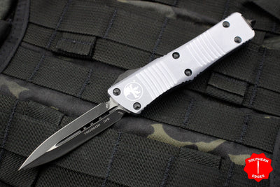 Microtech Troodon Double Edge OTF knife Gray with Black Blade 138-1 GY