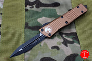 Microtech Troodon Double Edge OTF knife Tan with Black Blade 138-1 TA