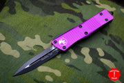 Microtech Troodon Violet Double Edge OTF knife with Black Blade 138-1 VI