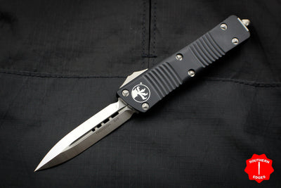 Microtech Troodon Double Edge OTF knife Black with Satin Blade 138-4