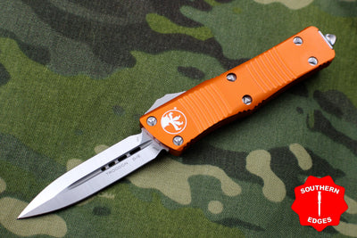 Microtech Troodon Orange Double Edge OTF knife with Satin Blade 138-4 OR
