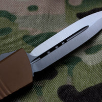 Microtech Troodon Tan Double Edge OTF knife with Satin Blade 138-4 TA