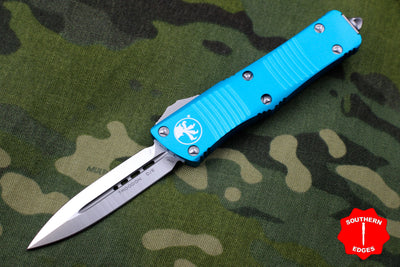 Microtech Troodon Turquoise Double Edge OTF knife with Satin Blade 138-4 TQ