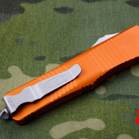 Microtech Troodon Double Edge OTF knife Orange with Satin Part Serrated Blade 138-5 OR