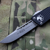 Microtech Troodon Single Edge OTF knife Black with Stonewash Blade 139-10