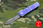 Microtech Troodon Distressed Purple Single Edge OTF knife Stonewash Blade 139-10 DPU